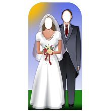Star Cutouts Cut Out of Wedding Couple Stand-in