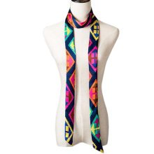2 PCS Elegant Silk Scarf Neckerchief Silks And Satins Scarves Narrow-band Waistband C