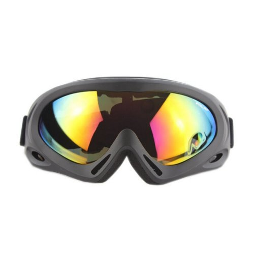 Men/Women's Ski Goggles Colorful Coated Lens Sport Goggles UV-blocking Black