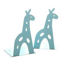 Cartoon Iron Bookcase Creative Thicker Baffle-Giraffe Blue