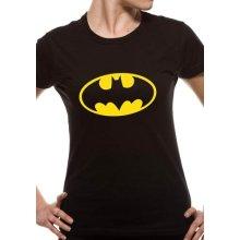 Batman - Logo Tshirt Womens Black Dc Medium Fitted Essentials Range Brand New -  batman logo tshirt womens black dc medium fitted essentials range