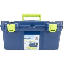 "Pro Art Storage Box W/Organizer Top-19""X10""X8.9"" Blue & Green"