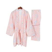 Women Pajamas Suit Floral Beautiful Fall & Winter Cotton Thick Pajamas Bathrobe