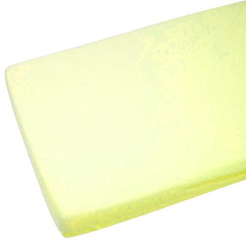 2x Jersey Fitted Sheet 100% Cotton Cot 60x120cm Lemon