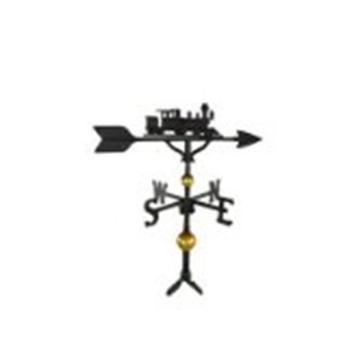 Montague Metal Products WV-312-SB 300 Series 32 In. Deluxe Black Train Weathervane