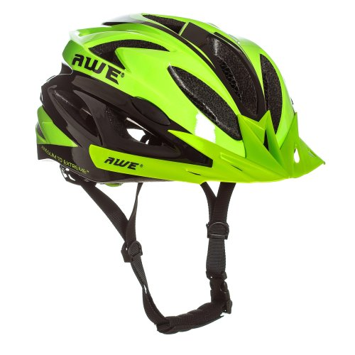 """AWE AWEAirâ""""¢ FREE 5 YEAR CRASH REPLACEMENT* In Mould Adult Mens Cycling Helmet 58-61cm Green, Black"""