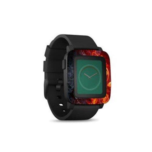 DecalGirl PSWT-FLWRFIRE Pebble Time Smart Watch Skin - Flower of Fire