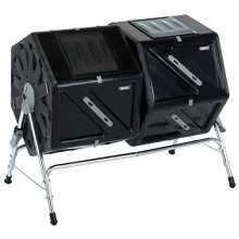 210l Tumbling Composter - Draper Compost Tumbler 17986 Garden Dual Chamber Bin -  draper 210l compost tumbler tumbling composter 17986 garden dual