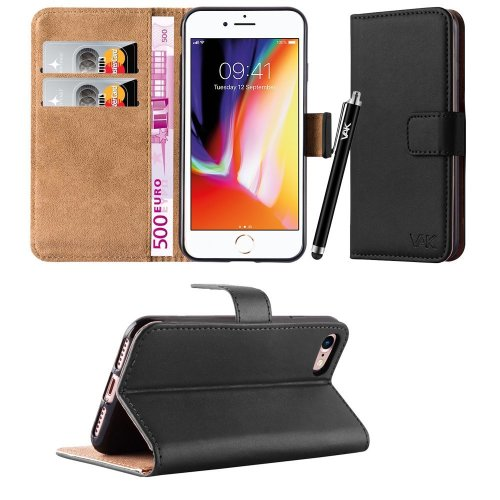 For iPhone 8 Premium Leather Wallet Case Cover