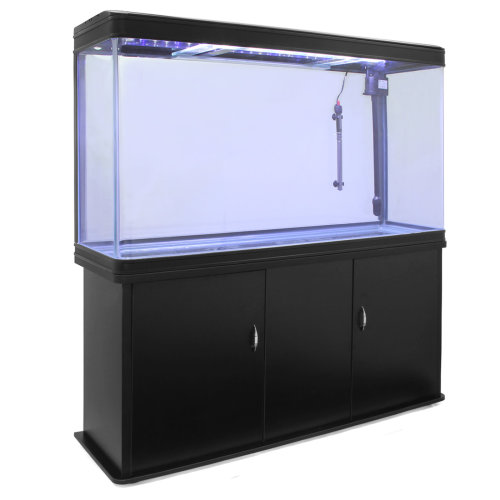 Aquarium Fish Tank & Cabinet - Black