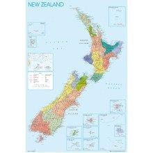 New Zealand Map Maxi Poster