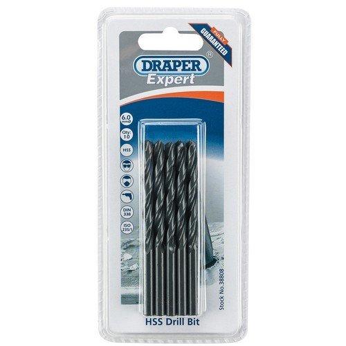 Draper 38808 Expert 6.0mm HSS Drills Card Of 10
