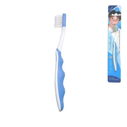 Brush-baby Floss Toothbrush (3-6yrs) - Blue