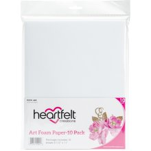 "Heartfelt Creations Art Foam Paper 8.5""X11"" 10/Pkg-White"