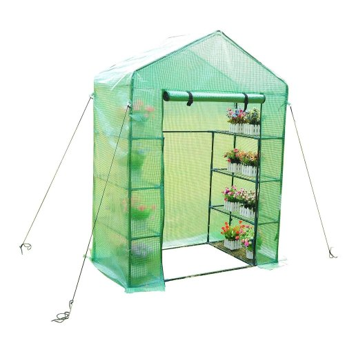 Outsunny Greenhouse with Shelves 143x73x195cm