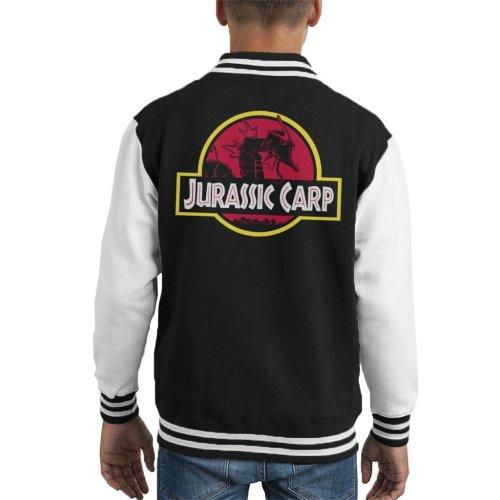 Jurassic Carp Kid's Varsity Jacket