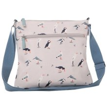 Birds Crossbody Shoulder Bag RSPB Cream Puffin Wading Bird Gulls Puffins Seagull