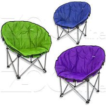 Purple Summit Orca Foldable Chair With Carry Bag. -  orca camping chair carry bag padded summit bucket moon style fold away