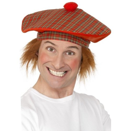 80a0e050474329 Smiffy's Adult Men's Tartan Scottish Hat With Red Hair,red, One - hat fancy  dress tamoshanter deluxe tartan scottish accessory hair adult on OnBuy