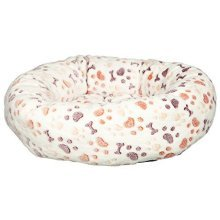 Trixie Lingo Dog Bed, 60 x 55 Cm, White/beige - Bed Sizes Whitebeige Various -  trixie bed sizes dog lingo whitebeige various new pet cat puppy cute