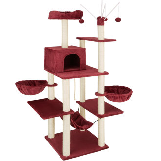 Lilou Cat Tree burgundy