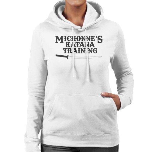 Michonnes Katana Training Walking Dead Women's Hooded Sweatshirt