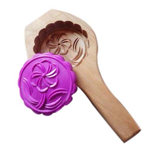 Dessert Baking Molds/Wooden Carving Baking Molds, Lovely Flower(18*9*2.4cm)