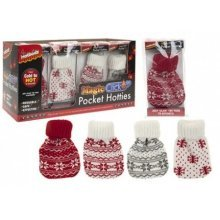 Pocket Hotties Heat Pack With Nordic Knitter Cover - Gloves Click Activate -  pack pocket hotties heat nordic knitter cover gloves click activate