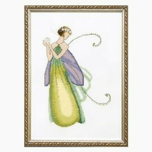 Pixie Couture Collection Gardenia Counted Cross Stitch Chart Pattern