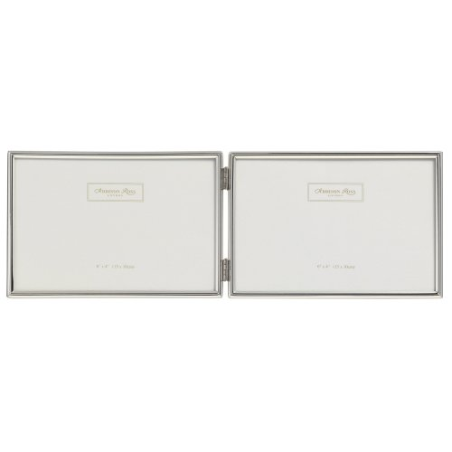 Addison Ross, Essentials Photo Frame, Silver Plate Double Landscape, 4 x 6 Inches
