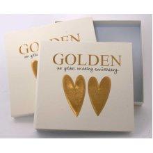 Golden Wedding 50th Anniversary Photo Album and Keepsake box