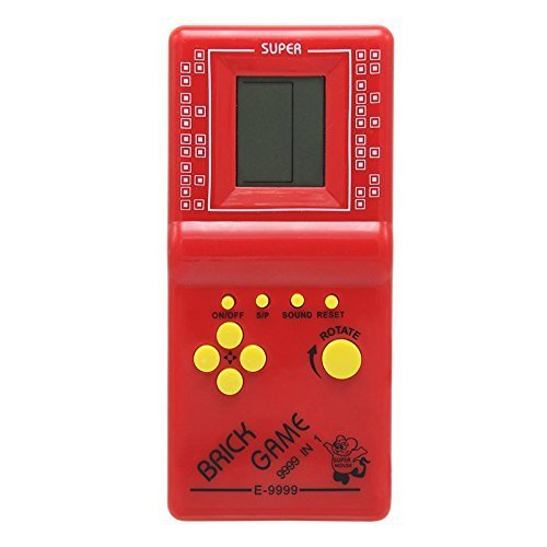Retro Portable Tetris Handheld Tetris Game Console Kids Electronic Brick GamesToys Built-in 23 games(GM01011RedUK)