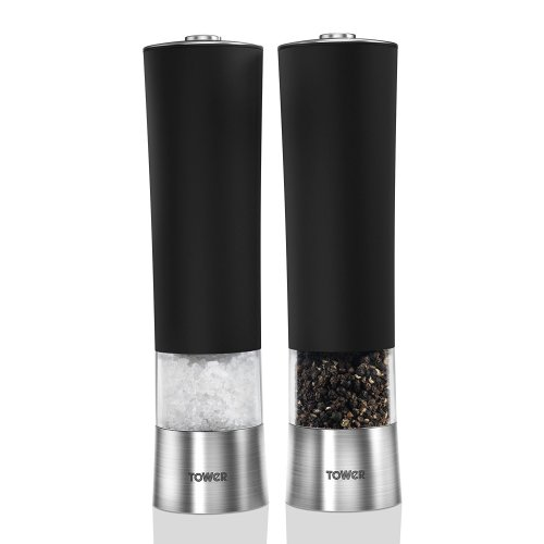 Tower T80400 Electric Salt and Pepper Mill Black