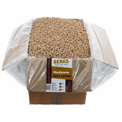 BEAKS Mealworm suet feed pellets for wild birds 12.75kg