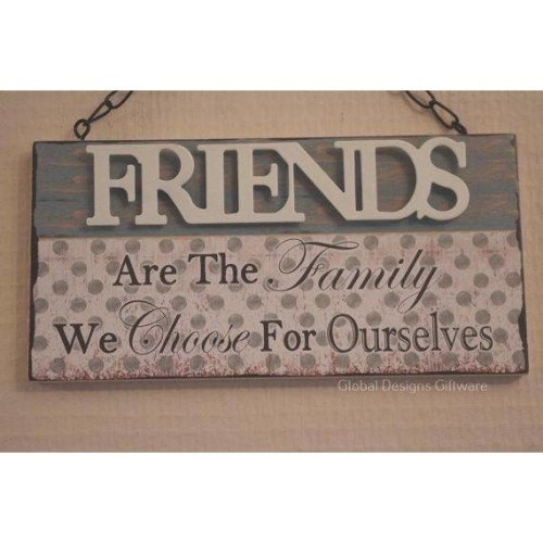 Wall Plaque Friends Are The Family We Choose SG1919B