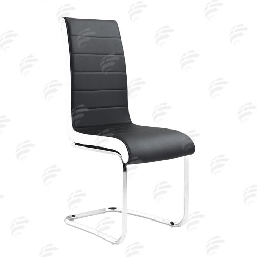 Faux Leather Modern High Back&Chrome Legs Office Chairs Set