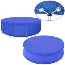 vidaXL Pool Cover PE Round 420 cm 90 g/m²