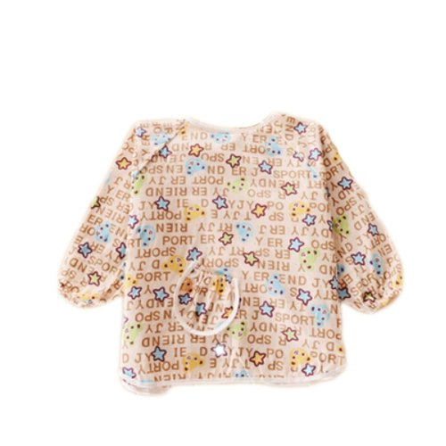 96c9f550cbf7b 2 PCS Cotton Waterproof Sleeved Bib Baby Feeding Bibs Art Smock-Star on  OnBuy