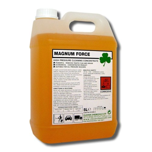 Clover Magnum Force Traffic Film Remover 5Ltr High Pressure Cleaner Concentrate
