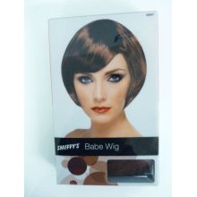 Brown Ladies Bob Wig With Side Fringe -  wig bob fancy dress short babe ladies brown costume fringe accessory smiffys