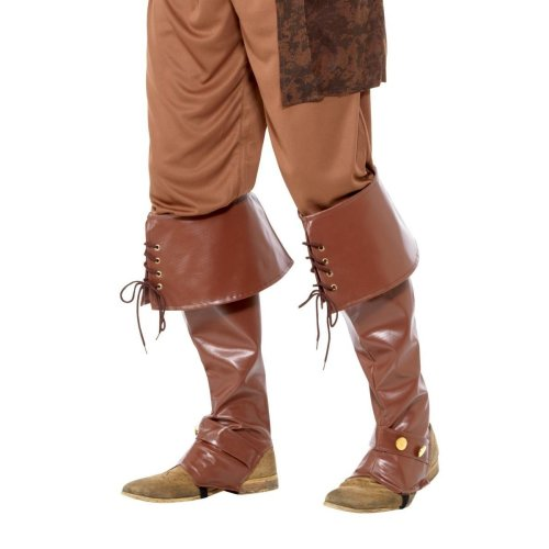 Deluxe Pirate Bootcovers, Pirate Fancy Dress, One Size