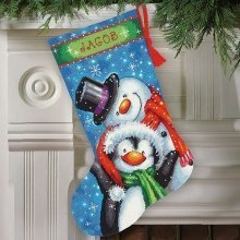 D71-09153 - Dimensions Needlepoint Kit - Stocking: Polar Pals