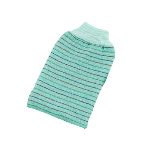 Striped Single Bath Towel Exfoliating Rubbing Towel,Green