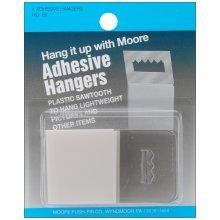 Adhesive Hangers 4/Pkg-Plastic Sawtooth