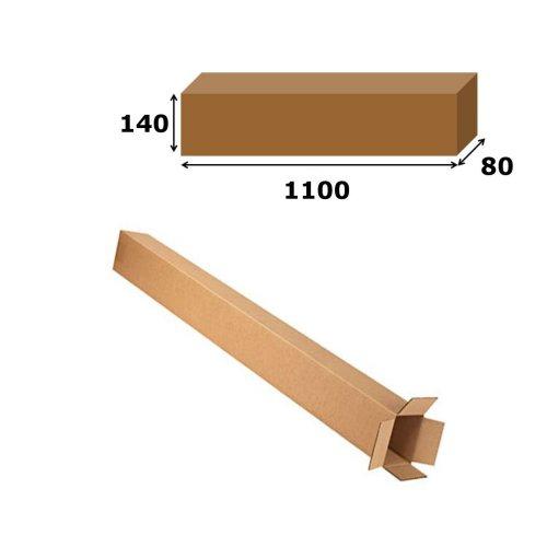 5x Postal Cardboard Box Long Mailing Shipping Carton 1100x140x80mm Brown